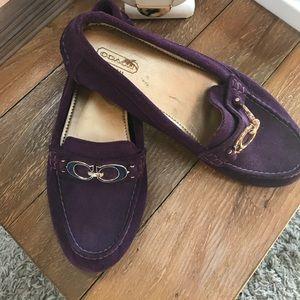 Coach a Purple Suede Loafers, Like New!, 6.5